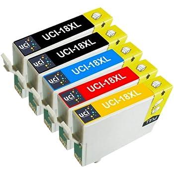 UCI 5x Epson 18XL / T1811-4 (T1816) Cartouches d'encre compatible avec Epson Expression Home Imprimantes (2 x Noir, 1 x Cyan, 1 x Magenta, 1 x Jaune)
