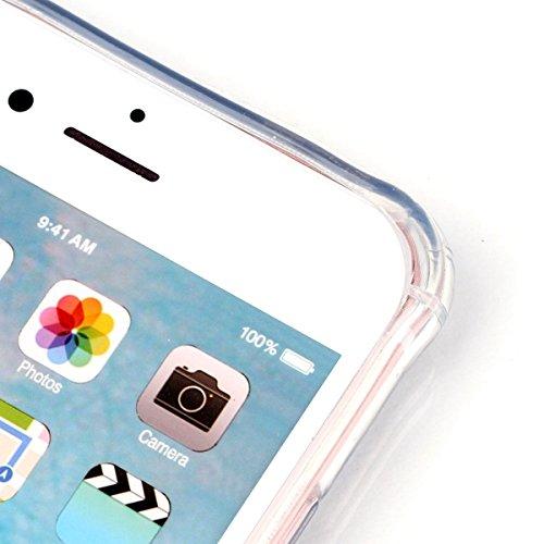 iPhone 6 plus Case, iPhone 6S plus Caso, Ekakashop Bling di modo di disegno del diamante ultra sottile laser di TPU Gel silicone flessibile(con la spina della polvere) cover protettiva trasparente cov Farfalla tacco alto