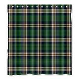 Dalliy Brauch Tartan Wasserdicht Polyester Shower Curtain Duschvorhang 167cm x 183cm