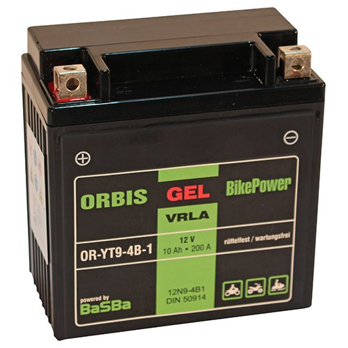 Orbis GEL12-9-4B-1 Motorradbatterie - 12N9-4B1 12 Volt 10 Ah 200 A