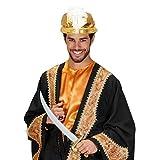 Turban sultan chapeau oriental doré avec perles et plume couvre-chef Aladin bonnet cheikh arabe chapeau à plume calife chapeau de carnaval orient accessoire déguisement