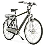 aktivelo Alu-Elektro-Fahrrad, Herren | 28 Zoll | Shimano Nexus 8-Gang Nabenschaltung | Akku 15,6 Ah mit 5 Motorunterstützungsstufen | LCD-Display & Aluminiumrahmen, Schwarz