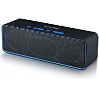 ZoeeTree S4 Wireless Bluetooth Speaker, Portable Stereo Subwoofer with HD Sound and Bass, Built-in Mic, Bluetooth 4.2, FM Radio and TF Card Slot, Outdoor Speakers for iPhone, iPad, Samsung etc