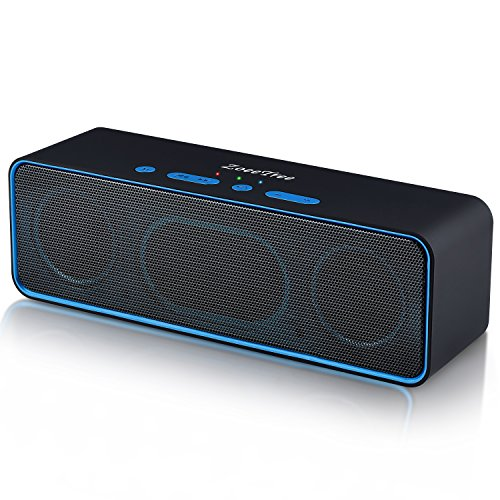 Bluetooth Lautsprecher, ZoeeTree S4 Subwoofer Speaker Portable, Bluetooth 4.2 Lautsprecher, Kräftigen Bass, Eingebaute 10W Dual-Treiber, Freisprechen, FM Radio, AUX-IN, TF Karte