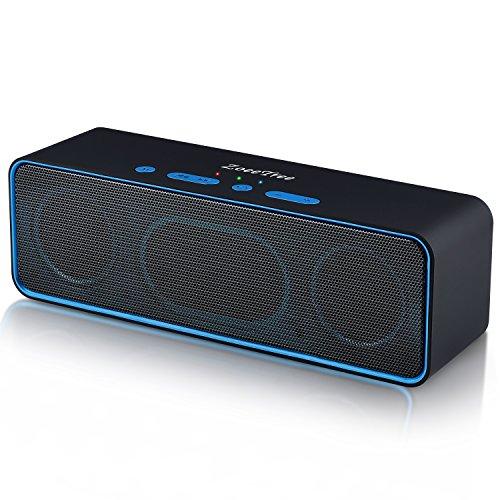 ZoeeTree S4-black - Altoparlante Bluetooth, Senza Fili Super-Portatile con Bassi Potenti, Microfono Integrato, Slot per Scheda TF, Radio FM