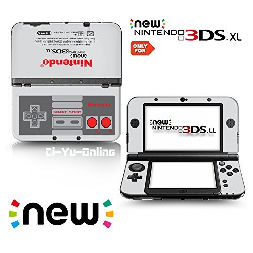 [new 3DS XL] Retro NES Limited Edition VINYL SKIN STICKER DECAL COVER for NEW Nintendo 3DS XL / LL Console System by Ci-Yu-Online (3ds Xl-retro-nes-edition-system)