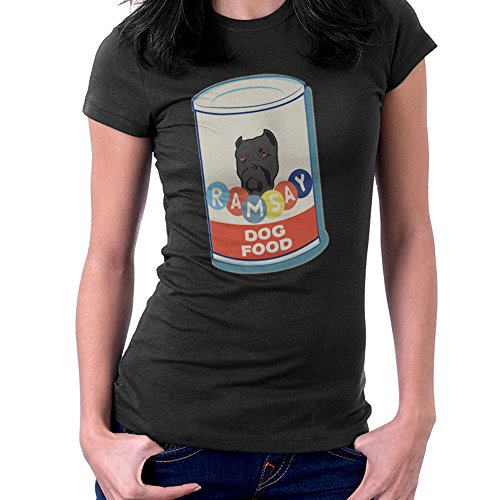 Ramsay Dog Food House Bolton Game Of Thrones Women's T-Shirt Black