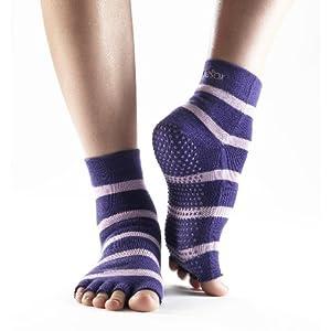 Toesox Unisex's Half Toe Ankle Grip Socks
