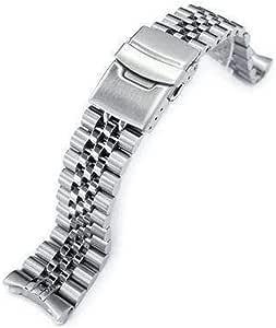 Cinturino con cinturino Strapcode 22mm Super 3D Jubilee in acciaio inossidabile 316L per Seiko SKX007