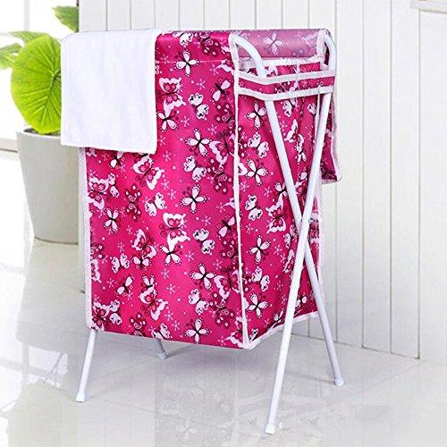 Pliage Avec Cover Avec Waterproof Panier à linge, 4 sortes de styles disponibles ( Couleur : B )