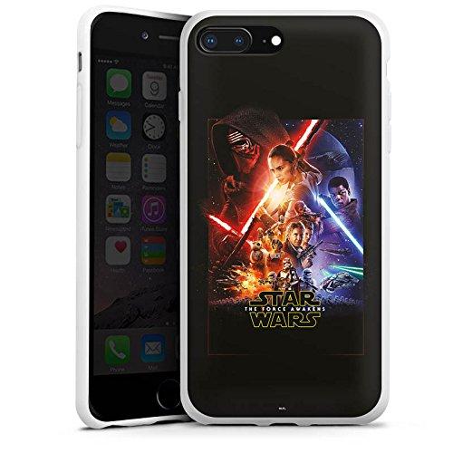 Apple iPhone 7 Silikon Hülle Case Schutzhülle Star Wars Das Erwachen der Macht Merchandise Fanartikel Silikon Case weiß