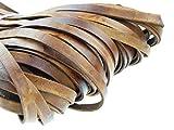 Lederband Flach 10 mm x 2,5 mm. Antik Braun - 5 Meter
