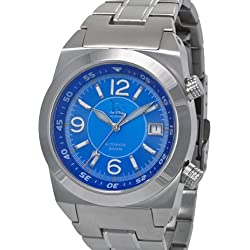 Lew and Huey 200 Meter Dual Crown Automatic Dive Watch with Strap and Bracelet Acionna-BW