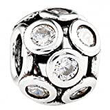 TAOTAOHAS Antico Argento Sterlina Decorativo Charms Beads Perline [giornata luminosa, Crystal Clear]
