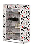 #4: Kurtzy Shoe Rack Space Saving Tower Stand Cabinet Storage 4 Tiers Organizer for Home Or Office 57x27x70 cm