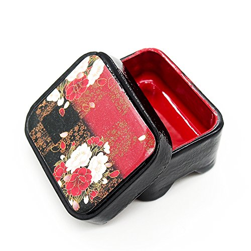 Odoria 1/12 Miniatur Geschirr Japanische Holz Brotdose Rot Für Puppenhaus Küche Zubehör (Der Japanische Spielzeug-küche)