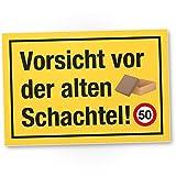 DankeDir! 50 Jahre Vorsicht Alte Schachtel, Kunststoff Schild - Geschenk 50. Geburtstag, Geschenkidee Geburtstagsgeschenk Fünzigsten, Geburtstagsdeko/Partydeko / Party Zubehör/Geburtstagskarte
