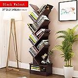 CLEAVE WAVES 9-Shelf Tree-Shape Bookshelf Display Storage Organizer Freistehender Bücherregal 14,5