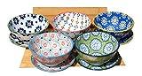 Ciotole e piatti giapponese Natsu x5 mix floreale