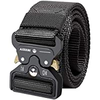 "AIZESI Tactical Gürtel 1.57"" Heavy Duty Gürtel,Schnellverschluss Military Style Shooters Nylon Gürtel mit Metallschnalle"
