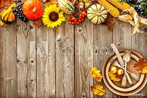 druck-shop24 Wunschmotiv: Colorful Background for Halloween and Thanksgiving #120469411 - Bild als Klebe-Folie - 3:2-60 x 40 cm / 40 x 60 cm (Große Halloween-alexander Der)