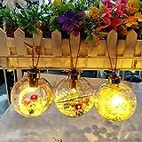 Morbuy Weihnachtskugel Ornamente Mit Licht, Innen Außen Deko Hänger für Weihnachten Festen Hochzeit Party Haus Terrasse Rasen (Mit Licht B)