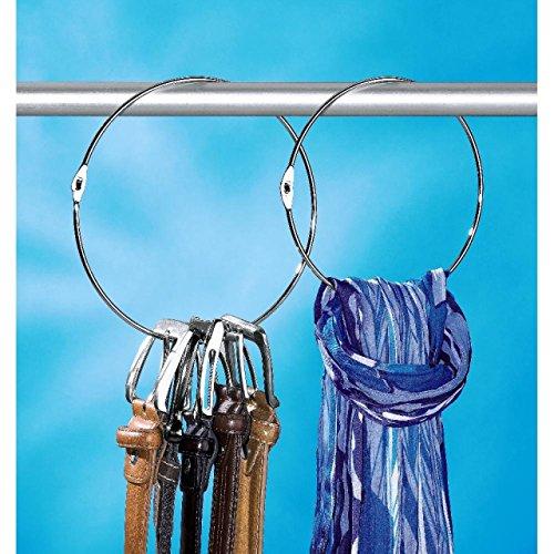 Preisvergleich Produktbild Gürtelringe 2er Set Gürtelhalter Schalring Kravattenbügel Bügel Schalhalter