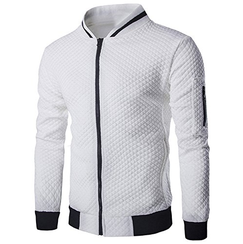 Sannysis Herren Slim Fit Pullover Langarm Mantel Herren Herbst Winter Casual Solid Zipper Jacke Top Bluse Outwear