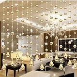 TPulling Crystal Beads Vorhang Aus Dem 1 Luxus Glasperlen Tür String Quaste Vorhang Hochzeit Teiler Panel Room Decor (Gold)