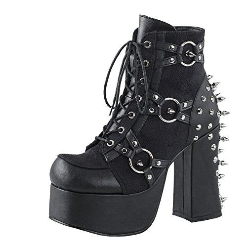 Gothic Stiefelette, Damen, Schwarz (schwarz) Schwarz (Schwarz)