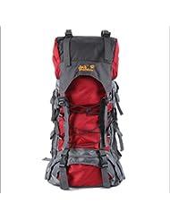 XIE@ Mochila 60L montañismo al aire libre profesional bolsa a granel Super bolsas para hombres y mujeres ligero nylon impermeable , red