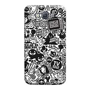 Desicase Samsung A7 Retro News 3D Matte Finishing Printed Designer Hard Back Case Cover (Multicolor)