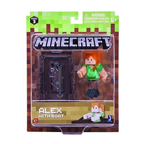 Minecraft 16491 - Figura de acción de 7,62 cm, diseño de Alex con Barco