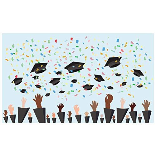 Uonlytech Foto-Hintergründe 3D Staffelungs-Thema-Hut-Druck Customed-Bild-Fotografie-Tafel-Studio-Stütze für die Abschlussfeier-Zeremonie-Party-Dekoration 2019