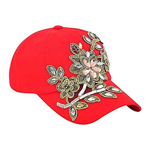 DWcamellia Hut Baseball Cap Männer S und Frauen S Sport Cap Blume Stickerei Casual Cap Cap C