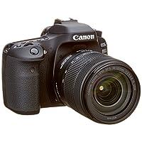 كانون اي او اس 80D طقم عدسات - 24.2 ميجابيكسل، اس ال ار كاميرا، 18 - 135 مم IS USM، اسود