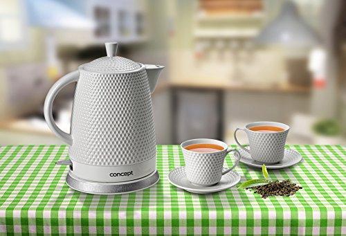 CONCEPT Hausgeräte RK-0040 Keramik Wasserkocher + 2 Tassen 1.5L 2200W - Bild 5