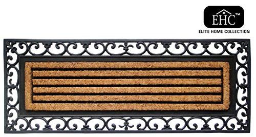 Felpudos fibra coco (de goma, 120x 45cm, X- Grande