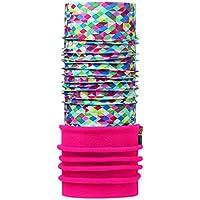 Buff, sciarpa multifunzione per bambini, in pile polar, Bambino, Polar, Pierrot Multi/pink Fluor, Taglia unica