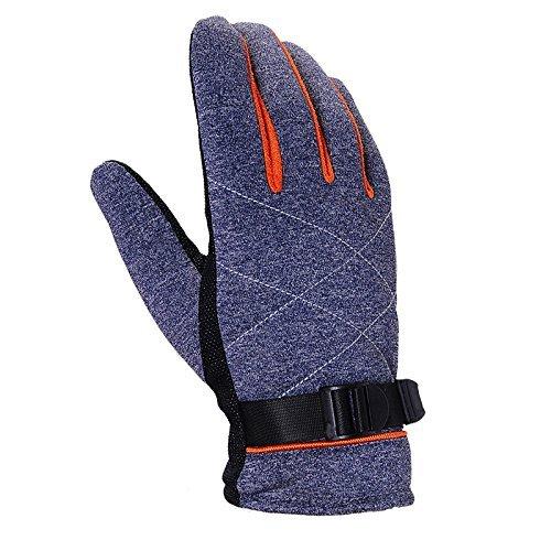 MOMO Motorrad thermische handschuhe outdoor reithandschuhe rutschfeste thermische handschuhe,Y- Silber,M Thermisches Radfahren-handschuhe Frauen