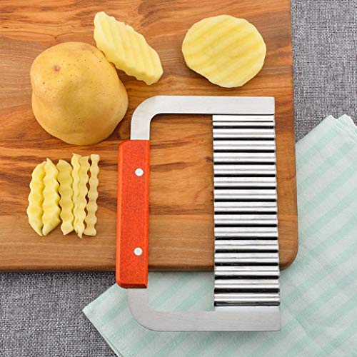 TAOtTAO Kartoffelchip Gemüse Crinkle gewelltes Fräser Fries Fries Hand Chipper Werkzeug...