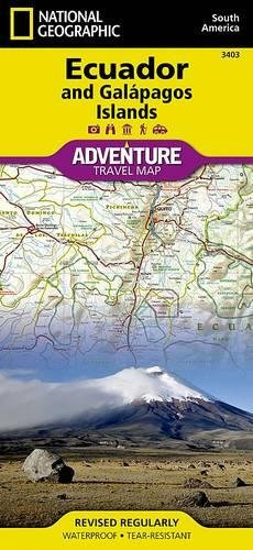 Ecuador & Galapagos Adventure Travel Map (Adventure map)