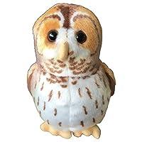 Wild Republic 19487 Tawny Owl with Authentic Bird Sound, Soft Toy for Kids, 13cm, Beige