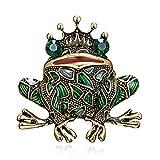 LBLFG spilla Crystal Frog Spilla Lady Green Animal Spilla Pin Luxury Vintage Gioielli Capispalla Gioielli Frogking 4 * 4Cm