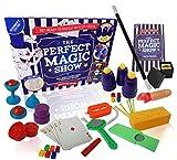 Lo Spettacolo di Trucchi Magici - 137 Trucchi Magici - Set di Magia per Bambini - Completo di Bacchetta Magica, Trucchi con Carte Magiche e Altro Ancora - Edizione per Principianti