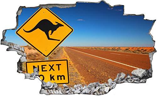 Australien Wüste Schild Kangaroo Wandtattoo Wandsticker Wandaufkleber C1689 Größe 100 cm x 150 cm