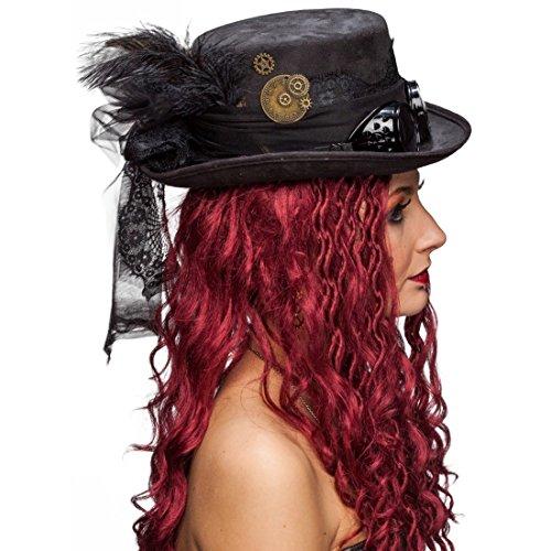 Sombrero de copa gótico con lazos