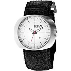 Replay RW5203AH Ladies Watch with Black Velcro Strap and Silver dial & date