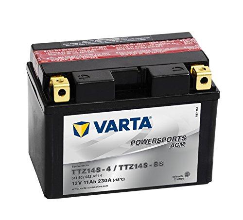 Varta 511902023 A514 Batterie Moto Fun-START AGM LF 12 V 11 mAh 230 a