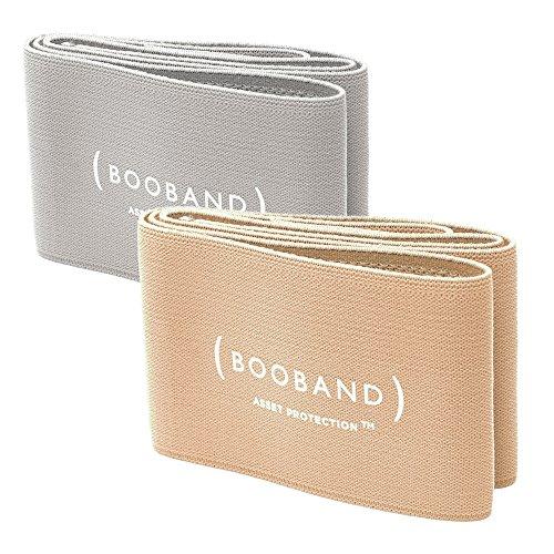 Booband Verstellbares Brustkompressionsband / Brust Unterstützung Band als Alternative zum Sport-BH, Beige und Grau Bundle (Band-bhs Bh-set)